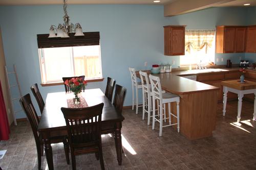 Kitchen-bluewall