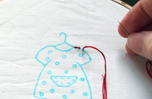 Stitching along